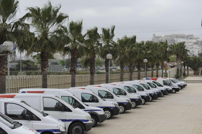 Flota de vehículos de Recambios Ibiza