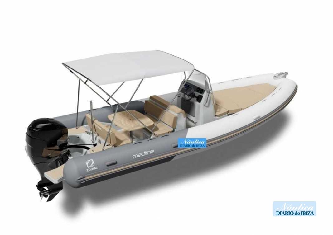 La zodiac Medlina 740 ideal para una jornada en el mar en familia.