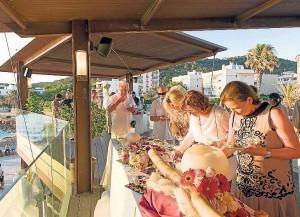 La terraza también acoge ceremonias y aperitivos.