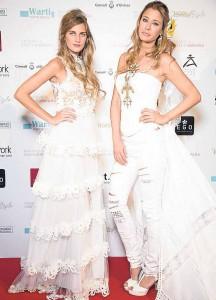 Las modelos Sibi Montes y Elisabeth Reyes participaron en exclusiva en este desfile.