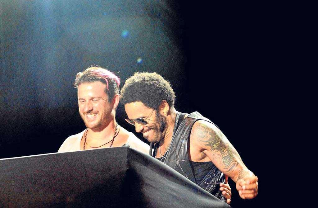 Luciano y Lenny Kravitz fusionandomúsica en ses Variades.