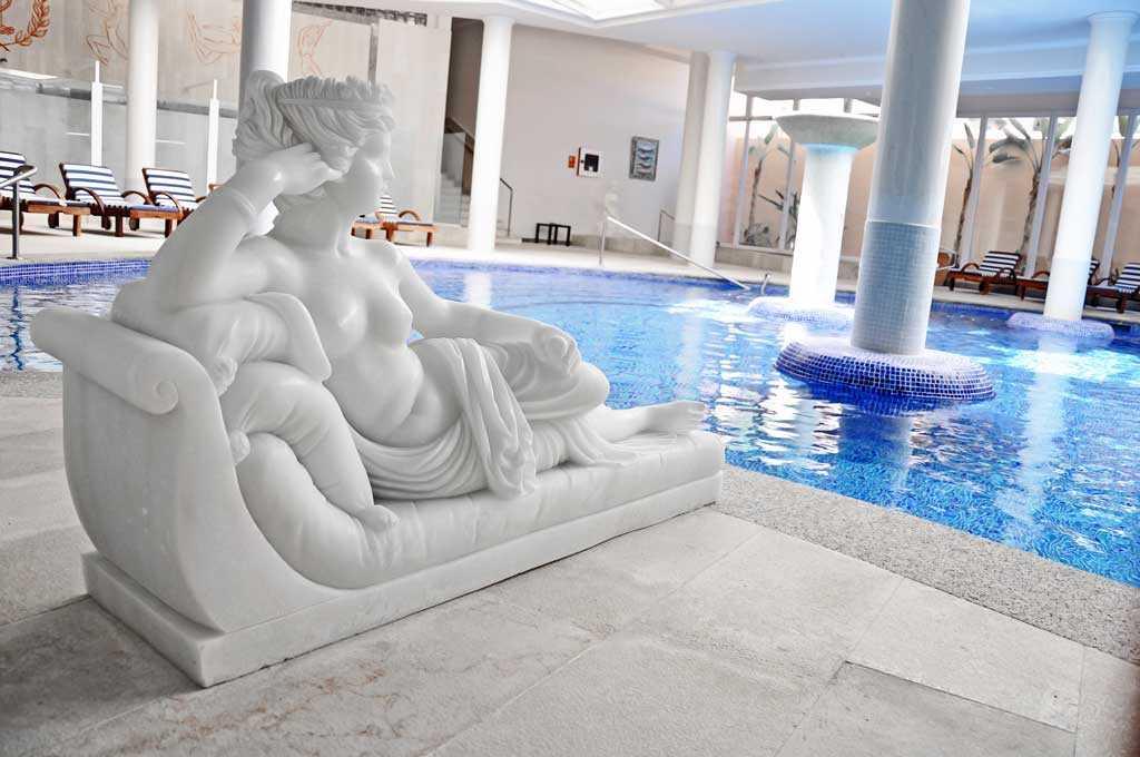 Interior del magnífico spa.