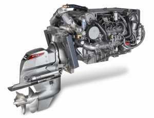 Motor Yanmar diesel con cola.