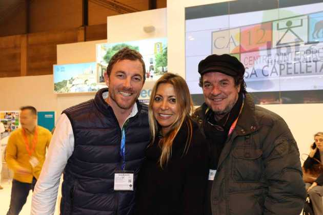 Carlos, Angie López y Rafa Viar.