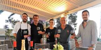 Restaurante Caminito Formentera. Aldo Trigo, Jorge Cabrera, Andrea Cabrera, Carlos y Estéfano Trigo.