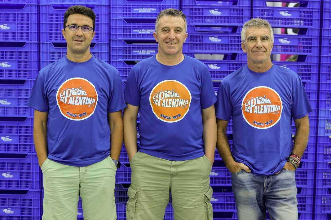 Frutas La Palentina. Marciano, Alfonso y José A. Rojo.
