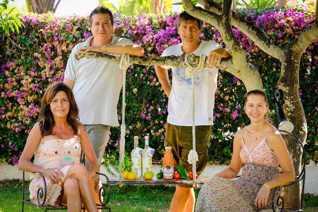 Ibiza Trending Products, Limoncello y gazpacho. Eva Garrido, Renzo Galli, Enrique Fornes y Bárbara Masson, las cuatro almas de este proyecto.