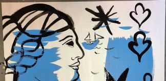 Galería Alcolea. La mujer está muy presente en las alegres pinturas de Elisabeth Ollé Curiel.