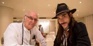Grupo Pachá con el Ibiza International Film Festival. Carlos Saura y Óscar Jaenada en El Hotel Pachá.