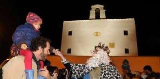 Fiestas de Navidad en Sant Josep. Cabalgata de Reyes en Sant Josep.