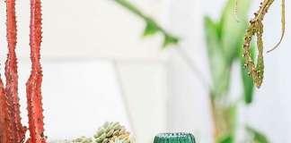 Compras navideñas. Set de vasos de cristal que forman un cactus al apilarse de 'www.doiydesign.com'.