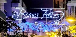 Navidad en Sant Antoni. Iluminación especial en las calles del núcleo urbano. Fotos: Sergio G. Cañizares