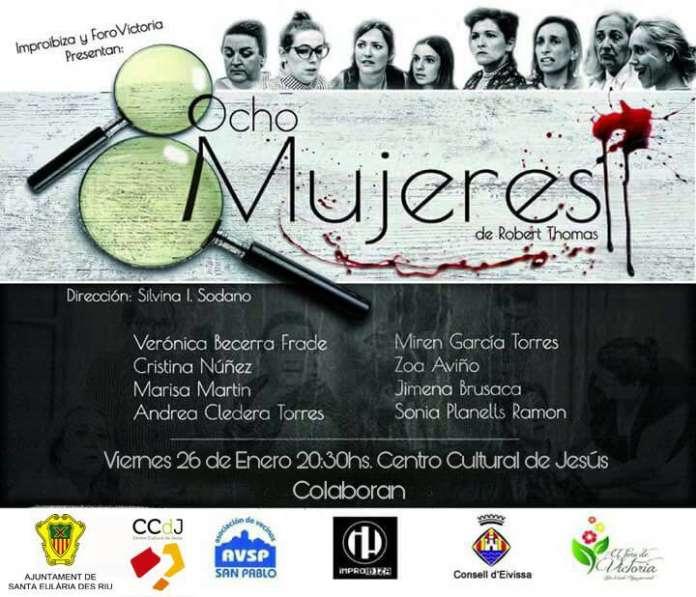Cartel de la obra Ocho Mujeres. Foro de Victoria presenta Ocho Mujeres