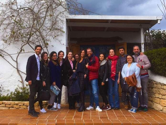 Las bloggers asistieron al almuerzo organizado por Es Caliu.