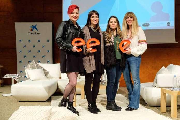 Ejemplos de superación. Las ganadoras de los premios eWoman Ibiza 2018: Ana Sánchez, Alba García, Julia Fioravanti y Judith Carcasona. fotos: Sergio G. Cañizares