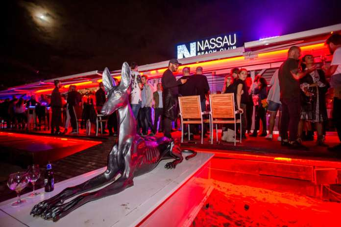 Imagen del 'closing' de Nassau Beach Club de la pasada temporada. fotos: aisha bonet ver el mundial de rusia en ibiza
