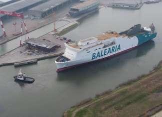 El primer buque propulsado por gas natural del Mediterráneo.
