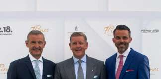 Joerg Linder, Kai Richter y Markus Lueck. Grand Opening Seven Pines Resort Ibiza.