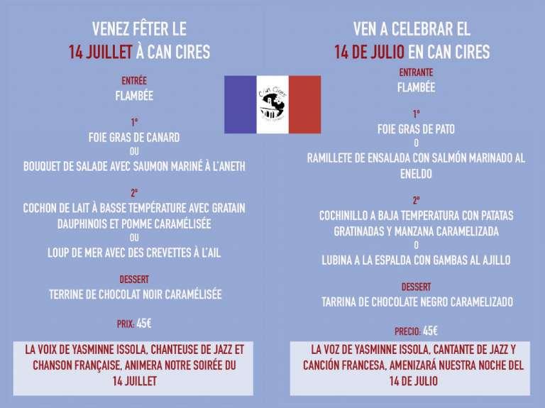 Celebra el 14 juillet en Can Cires