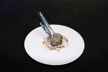 Una interpretación de un plato de ostras por Elena Arzak.