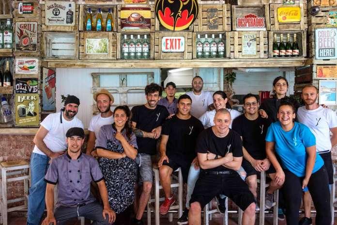 Restaurante Can Yucas, Cala Tarida. Equipo de trabajadores de Can Yucas.