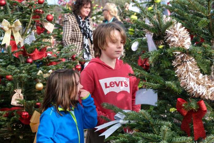 Mercado de navidad. Numerosas empresas participaron en el concurso de árboles. /Sergio G. Cañizares