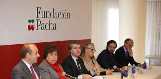 Los patronos de la Fundación, durante el acto de presentación. / Vicent Marí