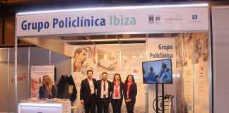 Esstand del Grupo Policlínica en Fitur Salud 2019.