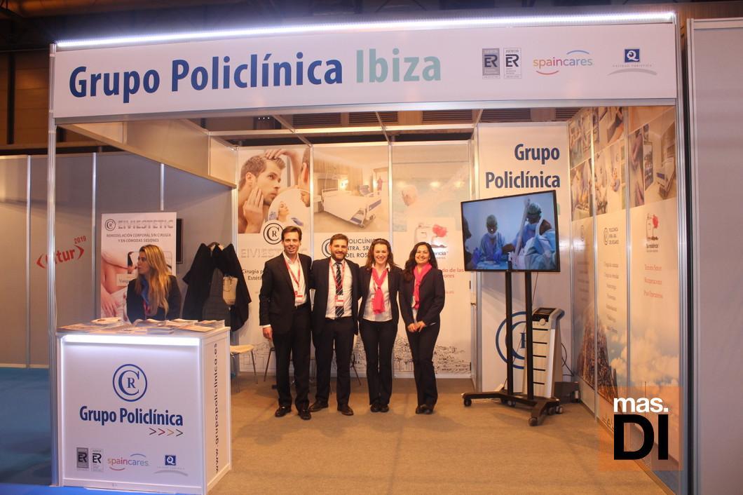 Esstand del Grupo Policlínica en Fitur Salud 2019.
