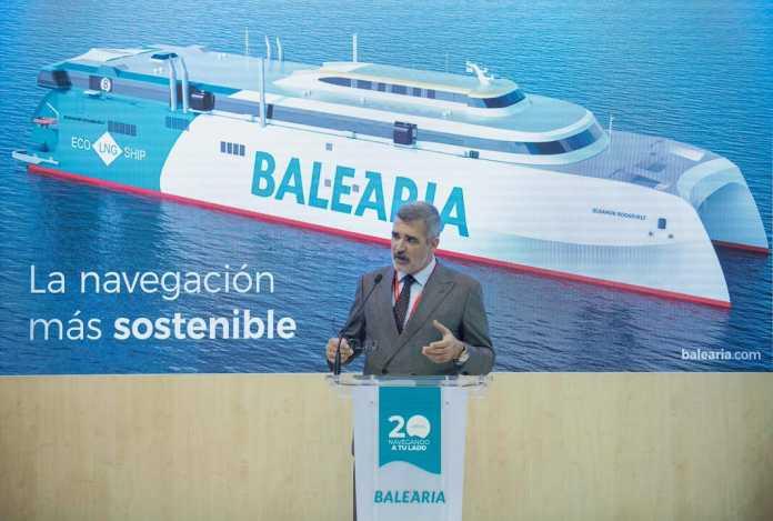 El primer fast ferry propulsado por GNL. Foto: Baleària