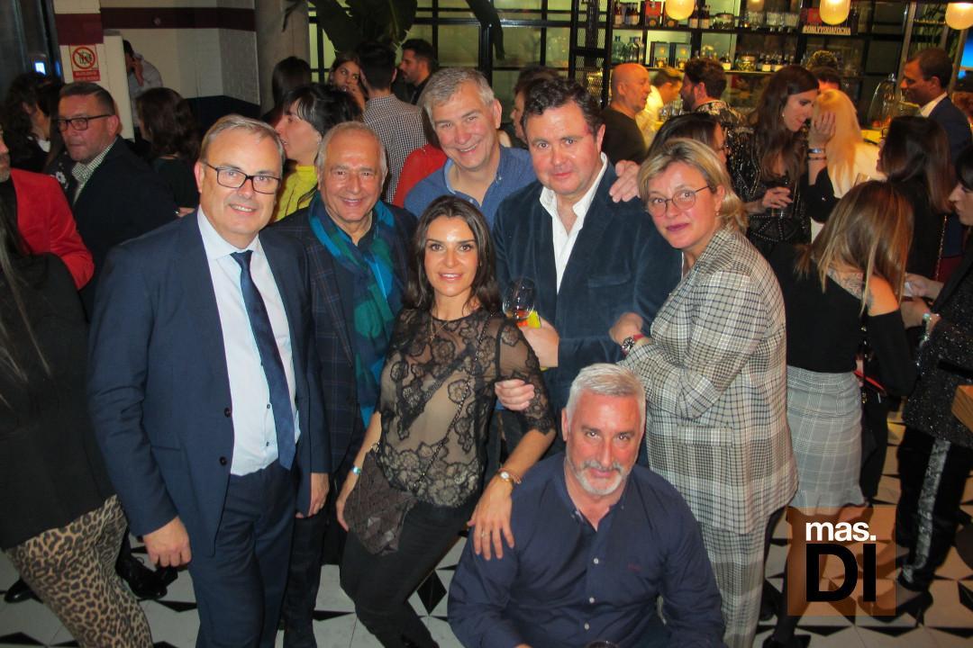 Vicent Torres, Juan Suárez, Pepe Marí, Iñigo Cavero, Isabel, Stella Matutes y Carlos Suárez.