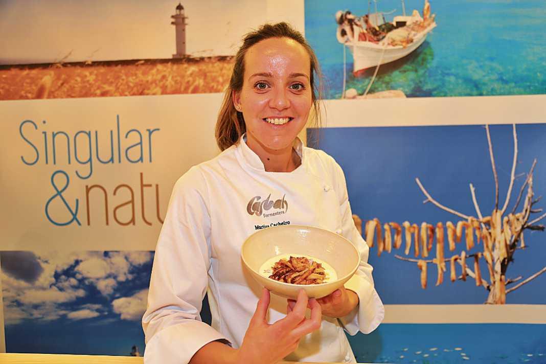 Martina Cacheiro y su plato.