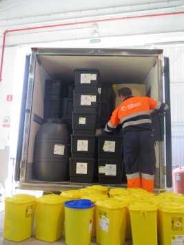 Los contenedores son especiales para cada tipo de residuo.