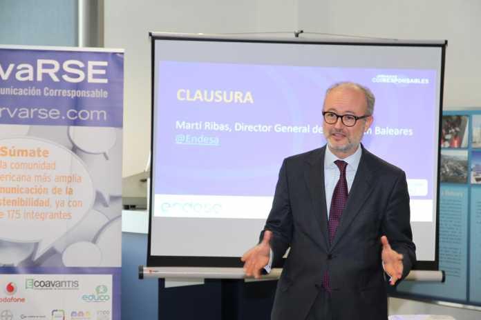 Martí Ribas, director general de Endesa en Balears, en su intervención.