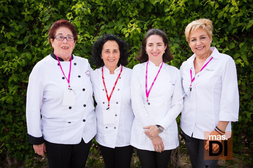 Catalina Riera, Teresa Montesinos, Elena Arzak y Susi Díaz.