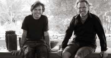 Enric y su hijo Roc Majoral.