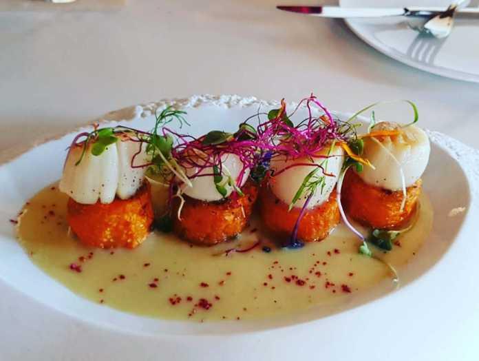 Delicioso plato de vieiras elaborado con el producto más fresco. Fotos: Safragell