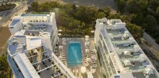 Vista aérea del nuevo hotel de cinco estrellas Five Flowers Hotel & Spa en es Pujols.