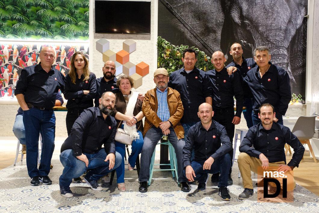 Parte del equipo de profesionales de Pinturas Rubio.