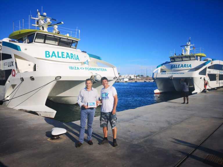 Baleària recibe el certificado Ibiza y Formentera Sin Plástico