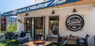 Can Paella cuenta con una agradable terraza.