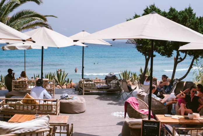 Espectaculares vistas al mar desde restaurante Aiyanna. Foto: Aiyanna Ibiza