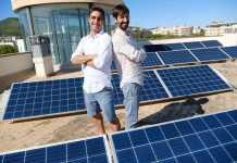Aitor López y Juan Tur, en la terraza de Diario de Ibiza. Sergio G. Cañizares
