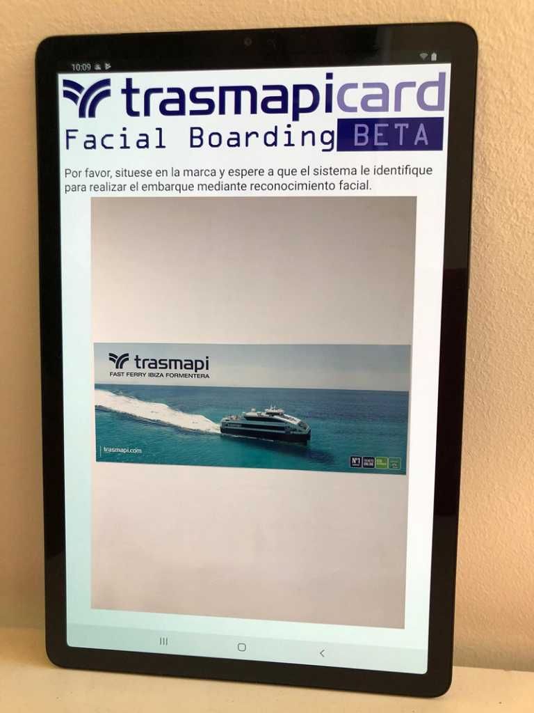Trasmapi Fast Ferry Ibiza Formentera incorpora el control biométrico para viajar entre islas