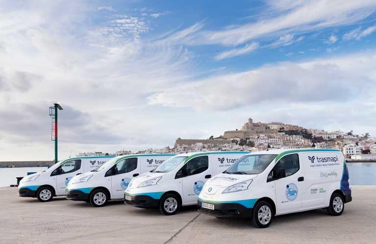 Trasmapi incorpora cuatro vehículos 100% eléctricos