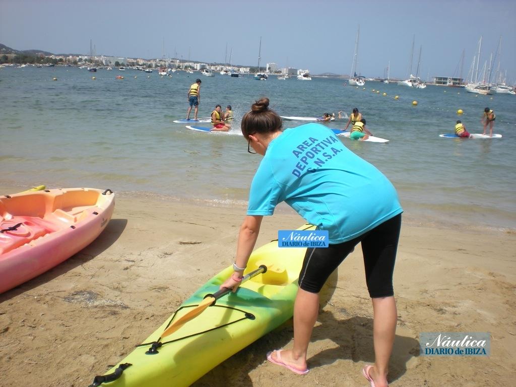 Los cursos de kayak de Es Nàutic tienen gran demanda