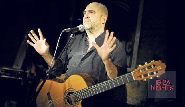 Riki López en un momento de su aplaudida actuación.