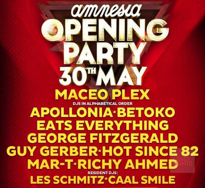 Opening Amnesia Ibiza 2015