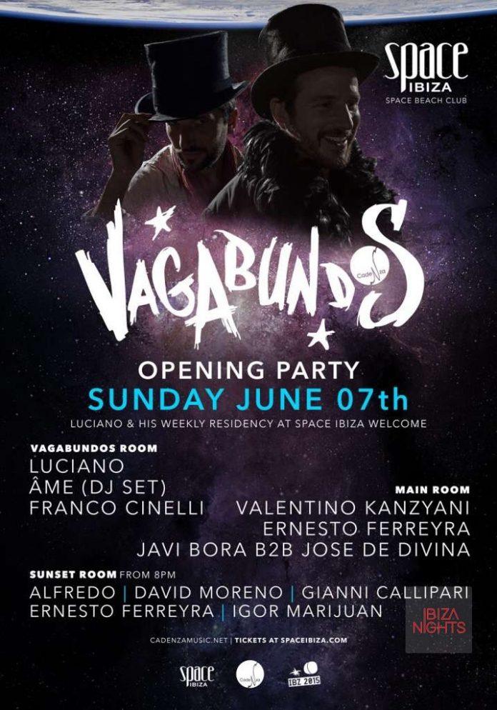 Opening Vagabundos con Luciano en Space Ibiza