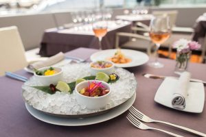 Variado de ceviche que se puede degustar en Blue Marlin.